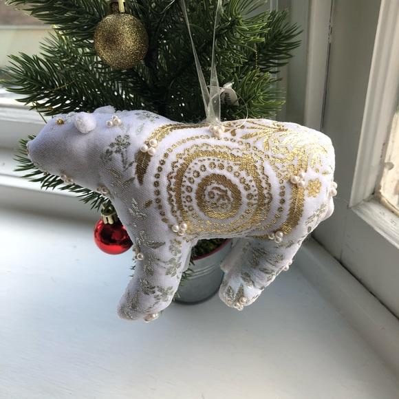 Anthropologie Polar Bear Christmas Ornament